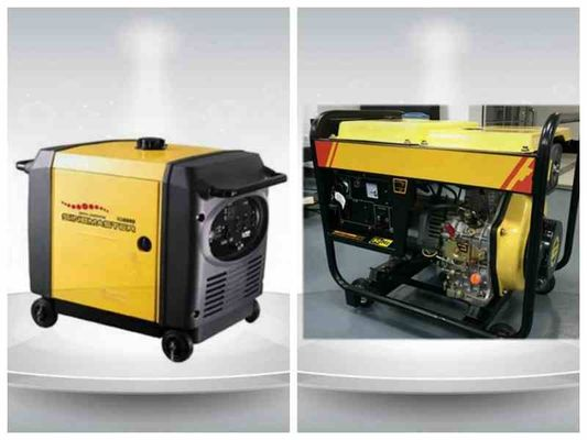 Cina 5kva Digital Gasoline Residential Diesel Generators Single Phase Portable ISO9001 pabrik